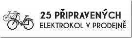 25 připravených elektrokol - ihned k odběru v naší prodejně elektrokol v Plzni