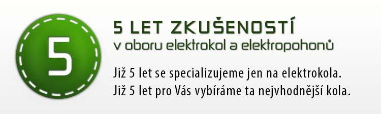 5 let zkušeností v oboru elektrokol a elektropohonů